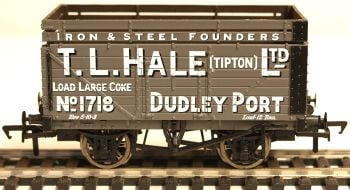 "Bachmann 37187  7 plank wagon with coke rail ""T L Hale ltd"" Tipton"
