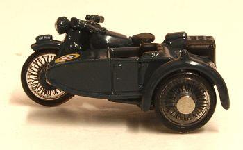 Oxford Diecast 76BSA008  Motorbike and Sidecar RAF Blue
