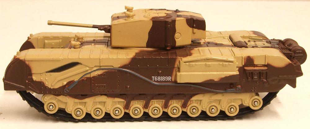 Oxford Diecast 76CHT001  Churchill Tank MKIII Kingforce - Major King