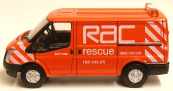 Oxford Diecast 76FT003  RAC New Ford Transit Van (L.Roof)