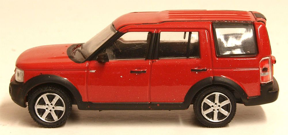 Oxford Diecast 76LRD008  Land Rover Discovery 3 Rimini Red Metallic