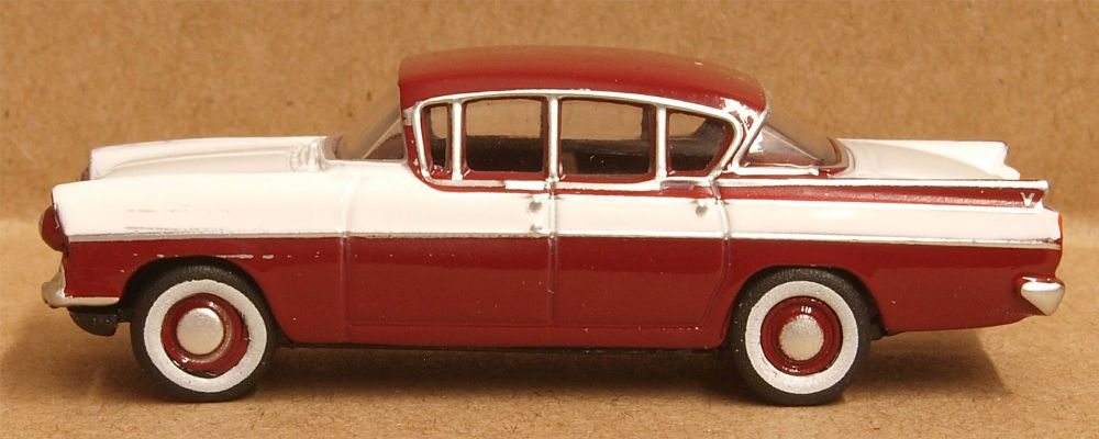 Oxford Diecast 76CRE009  Vauxhall Cresta Venetian Red Polar White