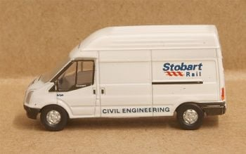 Oxford Diecast NFT010  Ford Transit LWB Stobart Rail High Roof