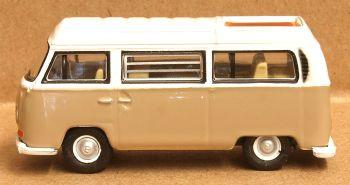 Oxford Diecast 76VW027  VW Bay Window Camper Savannah Beige/White