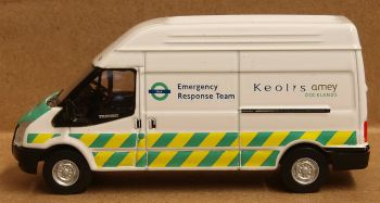 Oxford Diecast 76FT029  Ford Transit Mk5 Lwb High Docklands Light Railway
