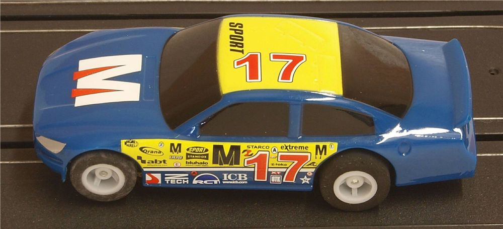 Scalextric G2157   Micro US Stock Car - Blue 17 (1:64)