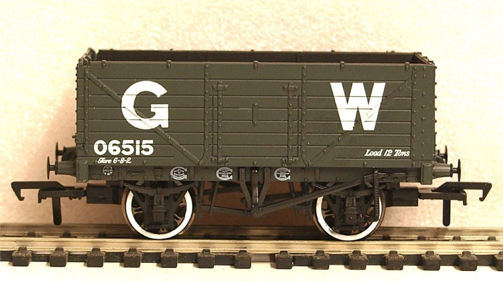 Bachmann 37-087  7 Plank End Door Wagon GW grey