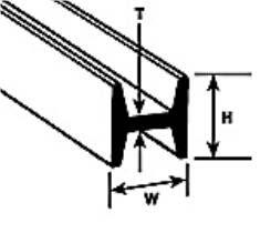 Plastruct 90541 (HFS-2) H-Columns x1