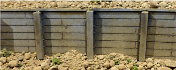 Chooch Enterprises 8610  Flexible Medium Timber Retaining Wall