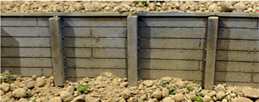 Chooch Enterprises 8610  Flexible Medium Timber Retaining Wall
