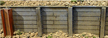 Chooch Enterprises 8608  Flexible Small Timber Retaining Wall