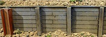 Chooch Enterprises 8608  Flexible Small Timber Retaining Wall
