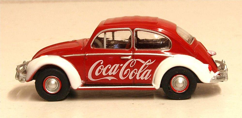 Oxford Diecast 76VWB009CC  VW Beetle Coca Cola