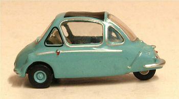 Oxford Diecast 76HE001  Heinkel Trojan Roman Blue