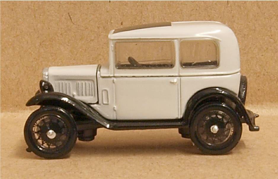 Oxford Diecast 76ASS006  Austin Seven Saloon Light Grey