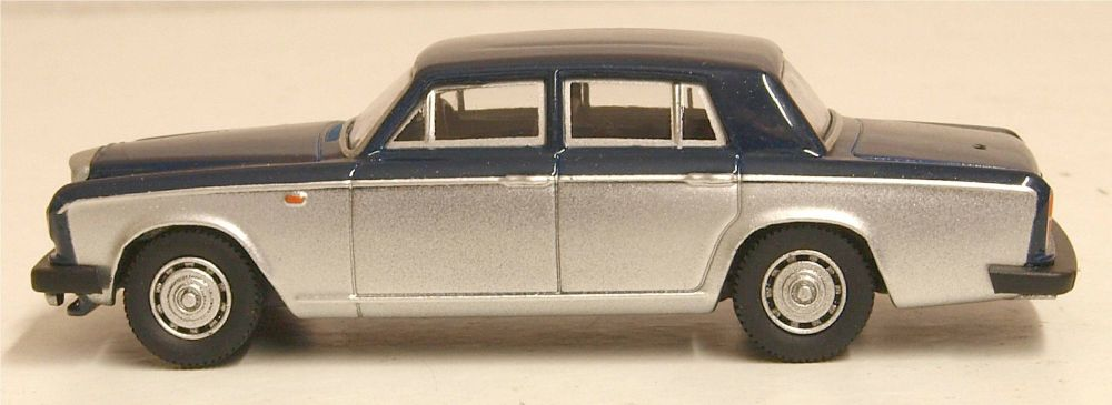 Oxford Diecast 76BT2004  Bentley T2 Saloon Seychelles Blue Shell Grey