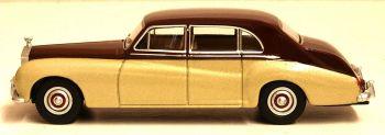 Oxford Diecast 76RRP5002  Rolls Royce Phantom V  Burgundy/silver Sand