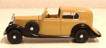 Oxford Diecast 76RRP3002  Rolls Royce Phantom III Fawn/black
