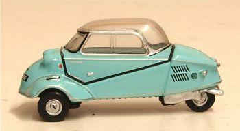 Oxford Diecast 76MBC004  Messerschmitt Kr200 Bubble Top Light Blue