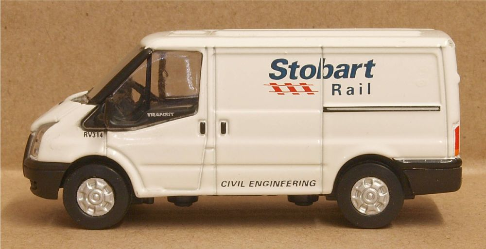Oxford Diecast 76FT012  Ford Transit SWB Low Roof Stobart Rail