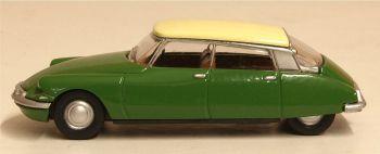 Oxford Diecast 76CDS001  Citroen DS19 Sherwood Green/Daffodil