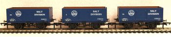 Oxford Rail GV6020  3 pack ICI Salt  7 plank open wagon