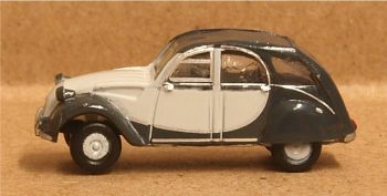 Oxford Diecast NCT006  Citroen 2CV Charleston Two Tone Grey