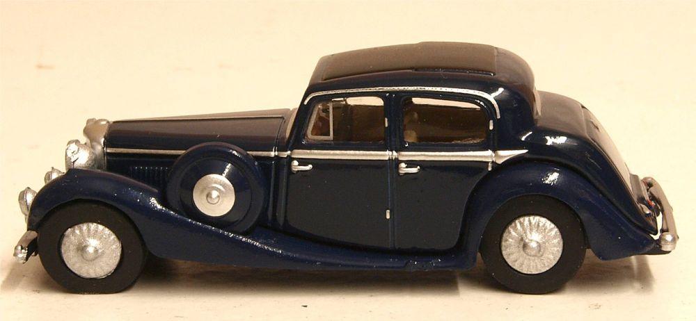 Oxford Diecast 76JSS006  SS Jaguar Dark Blue