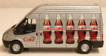 Oxford Diecast 76FT018CC  Ford Transit LWB High Roof Diet Coke (Bottles)