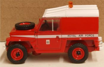 Oxford Diecast 76LRFCL003   Land Rover 1/2 Ton Lightweight RAF- Red Arrows