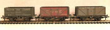 Bachmann 37081TL  7 Plank Cornish Coal Trader Wagons