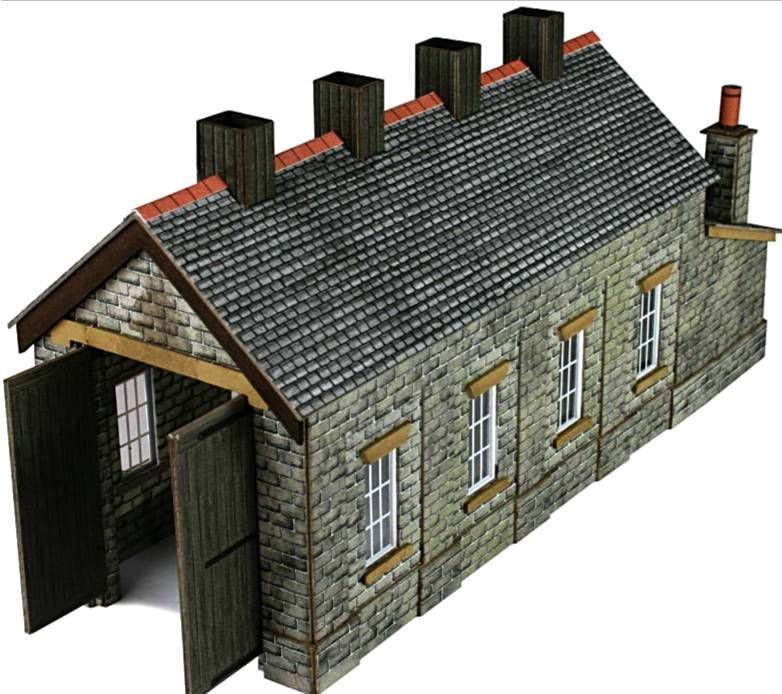 Metcalfe PN932  Engine shed (stone) single road