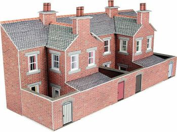Metcalfe PN176  Low Relief terrace house backs (Brick)