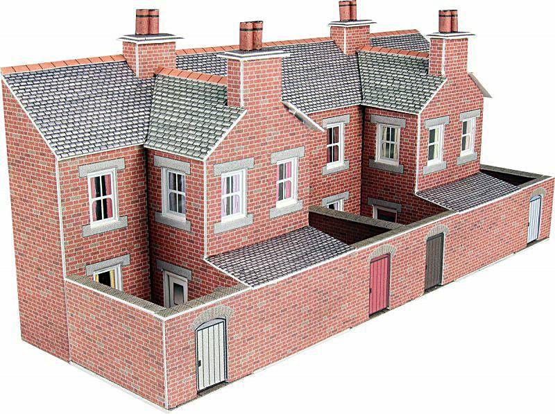 Metcalfe PN176  Low Relief terrace house backs (Brick)