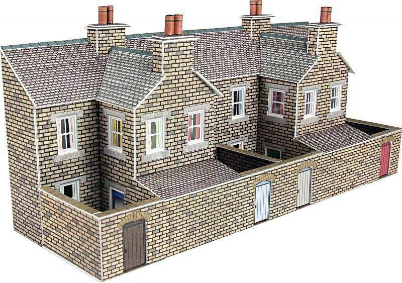 Metcalfe PN177  Low Relief terrace house backs (Stone)