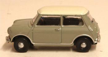 Oxford Diecast 76MN009  Classic Mini Tweed Grey OEW