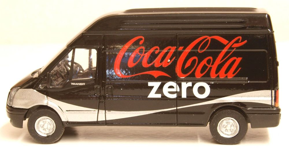 Oxford Diecast Ford Transit LWB High Roof Coke Zero Vehicle 76FT017CC