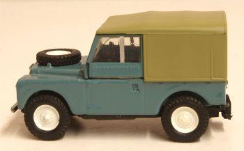 Oxford Diecast 76LAN188023  Land Rover Series 1 88 Canvas Marine Blue