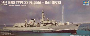 Trumpeter PKTM04544  HMS Kent F78 Type 23 Frigate  1:350