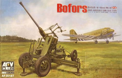 AFV Club AF35187  Bofors QF 40mm Mk III AA Gun Late (British Version) 1:35
