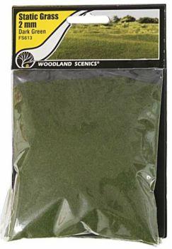 Woodland Scenics FS613  2mm Static Grass 'Dark Green'
