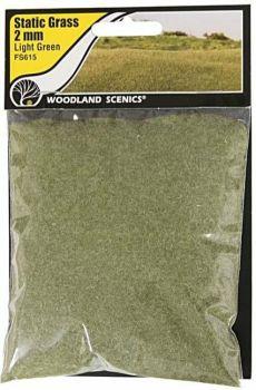 Woodland Scenics FS615  2mm Static Grass 'Light Green'