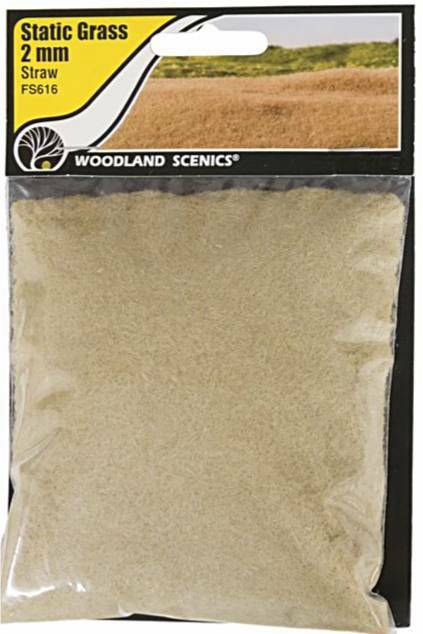 Woodland Scenics FS616  2mm Static Grass 'Straw'