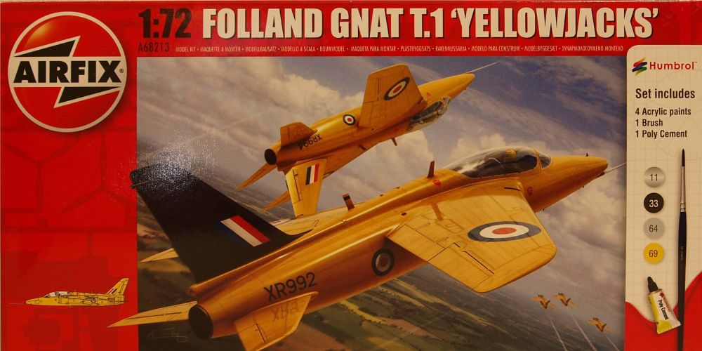 "Airfix A68213  Folland Gnat T.1 ""Yellowjacks"" Starter Set 1:72"