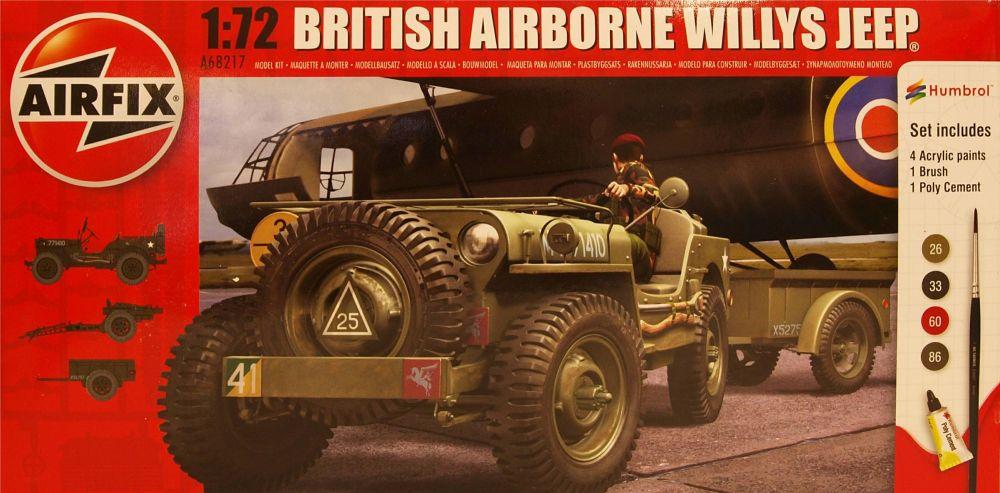 Airfix A68217  British Airborne Willys Jeep  Starter Set 1:72