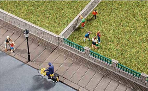 Auhagen 42559  Garden fences walls 'HO'