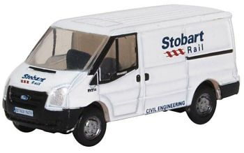 Oxford Diecast NFT012  Ford Transit Mk5 Stobart Rail Low Roof