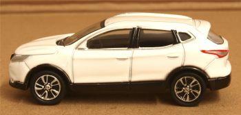 Oxford Diecast 76NQ2001  Nissan Qashqai J11 Storm White 1:76