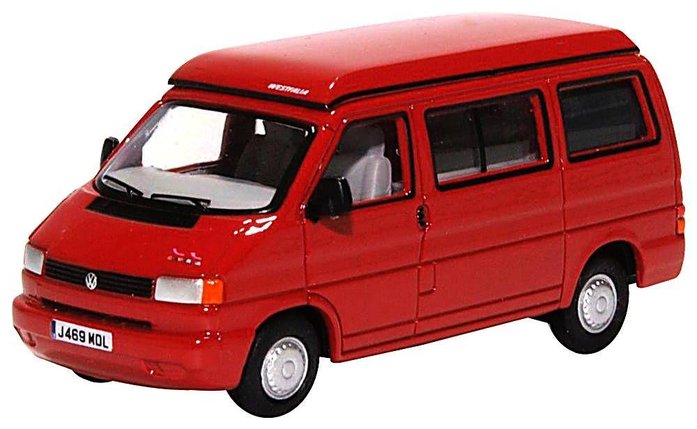 Oxford Diecast 76T4001  VW T4 Westfalia Camper Paprika Red