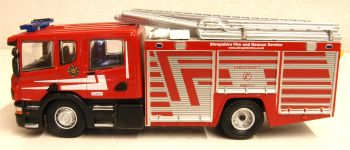 Oxford Diecast 76SFE010  Scania CP31 Pump Ladder Shropshire Fire & Rescue